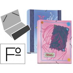 Carpeta liderpapel clasificadora fantasia carton forrado solapa witch