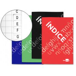 Indice liderpapel tapa cartoncillo cuarto 24 hojas 70g/m2 colores surtidos