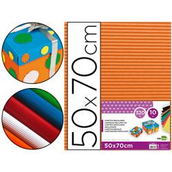 Carton ondulado liderpapel 50 x 70cm 320g/m2 naranja