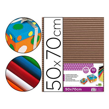 Carton ondulado liderpapel 50 x 70cm 320g/m2 marron