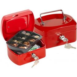 Caja caudales qconnect 6 152x115x80 mm roja con portamonedas