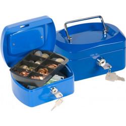 Caja caudales qconnect 6 152x115x80 mm azul con portamonedas
