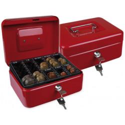 Caja caudales qconnect 8 200x160x90 mm roja con portamonedas