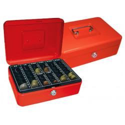 Caja caudales qconnect 10 250x180x90 mm roja con portamonedas