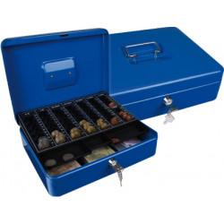 Caja caudales qconnect 12 300x240x90 mm azul con portamonedas
