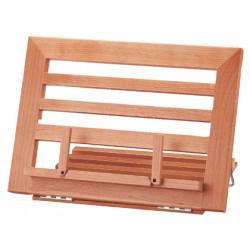 Atril sujetalibros madera l32l 340x240x170mm