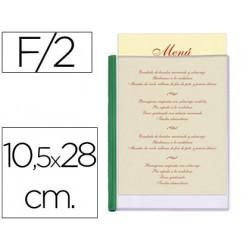 Porta menus liderpapel pvc 105 x 28 cm con 2 fundas