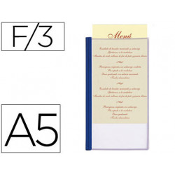Porta menus liderpapel pvc din a5 con 3 fundas