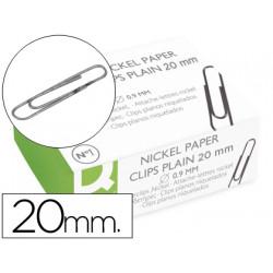 Clips niquelados qconnect nº1 20 mm caja de 100