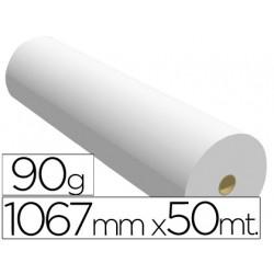 Papel reprografia para plotter 1067mmx50mt 90gr impresion inkjet
