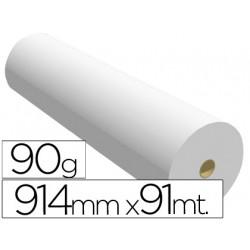 Papel reprografia para plotter 914mmx91mt 90gr impresion inkjet