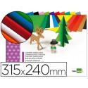 Bloc trabajos manuales liderpapel carton ondulado 240x315mm 10 hojas colore