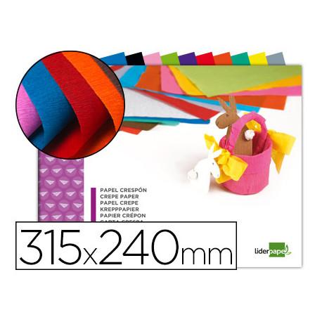 Bloc trabajos manuales liderpapel crespon 240x315mm 10 hojas colores surtid