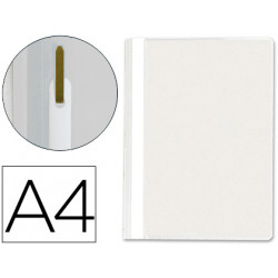 Carpeta dossier fastener plastico qconnect din a4 blanco