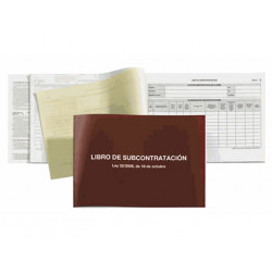 Libro subcontratacion miquelrius folio natural juego de 10 hojas autocopiat