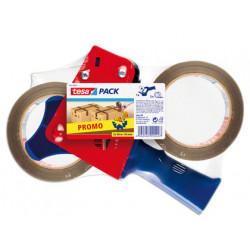 Portarrollo tesa para embalaje para rollos de 66mtx 50mm 2 rollos cinta mar