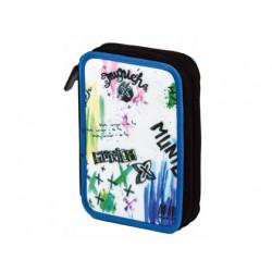 Bolso escolar portalapices copywrite munich aquarel case 2 zips 21x15 cm