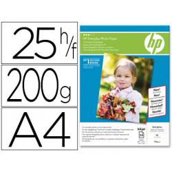 Papel hp fotografico semi satinado a4 25 hojas 200g/m2