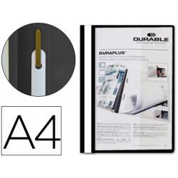 Carpeta duraplus din a4 con fastener negro durable