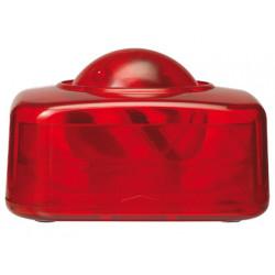 Portaclips qconnect con bola dispensadora giratoria plastico rojo