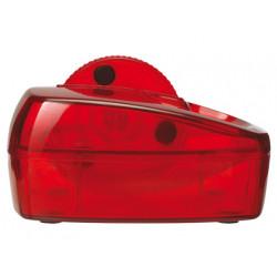 Portaclips qconnect con rueda magnetica giratoria plastico rojo