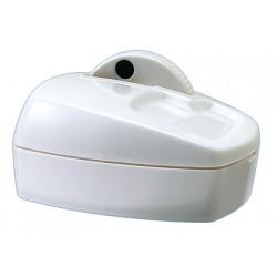 Portaclips qconnect con rueda magnetica giratoria plastico blanco