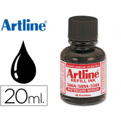 Tinta artline negro para rotulador pizarra blanca 500a frasco de 20 ml