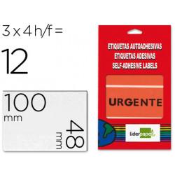 Etiquetas liderpapel urgente sobre de 4 h 100x48mm 100x48mm
