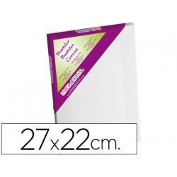 Bastidor lidercolor 3f lienzo grapado lateral algodon 100% marco pawlonia 1