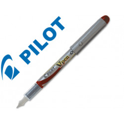 Pluma pilot v pen silver desechable rojo svp4wr