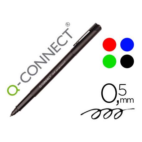 Rotulador qconnect retroproyeccion punta fibra super fina redonda 05 mm p