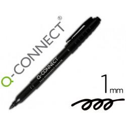 Rotulador qconnect para cd/dvd punta fibra permanente negro punta redonda