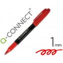 Rotulador qconnect para cd/dvd punta fibra permanente rojo punta redonda 1