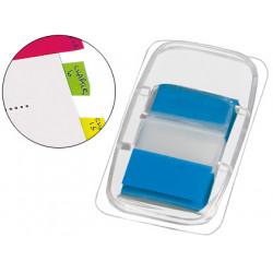 Banderitas separadoras qconnect azules dispensador de 50