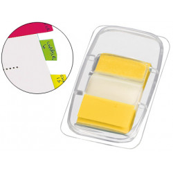 Banderitas separadoras qconnect amarillas dispensador de 50