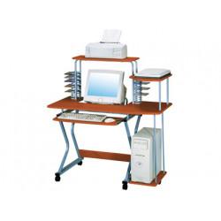 Mesa de informatica qconnect sw 06 aluminio y madera color roble