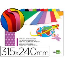 Bloc trabajos manuales liderpapel goma eva 240x315mm 10 hojas colores surti