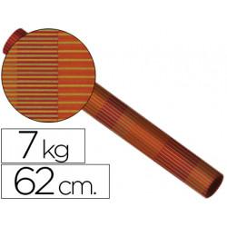 Papel fantasia kraft 4327 bobina 62cm 75 kg