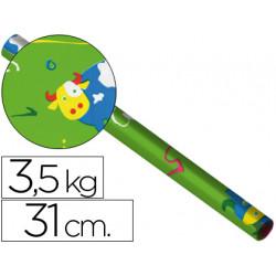 Papel fantasia estucado 1218 bobina de 31 cm 35kg