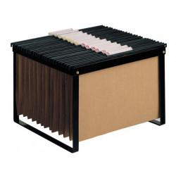 Soporte para carpetas colgante qconnect negro bastidor de sobremesa para c