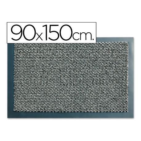 Alfombra fastpaperflow antipolvo lavable gris 90x150 cm