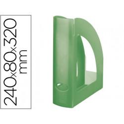 Revistero plastico qconnect verde kiwi translucido