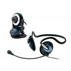 Camara web con auricular trust cp2150 chat pack