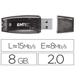 Memoria usb emtec flash c410 8 gb 20