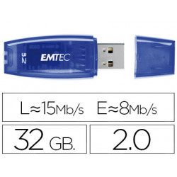 Memoria usb emtec flash c410 32 gb 20 azul