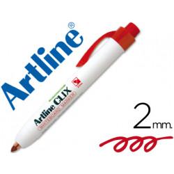 Rotulador artline clix pizarra ek573a rojo punta retactil redonda 200 mm