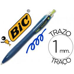 Boligrafo bic reaction ecologico azul retratil tinta de aceite