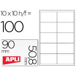 Tarjeta de visita apli microperforada 200 grs acabado mate 90x508 mm impre