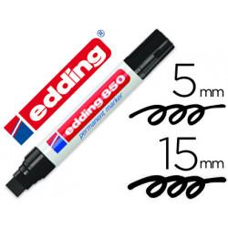 Rotulador edding marcador permanente 850 negro punta biselada 515 mm recar