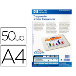 Transparencia hewlett packard laser din a4 50 hojas